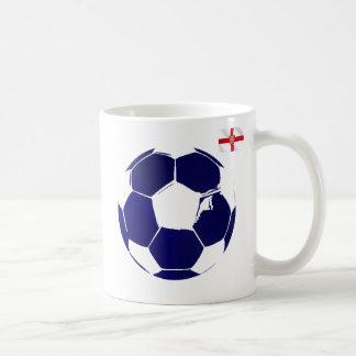 England blue soccer ball England flag gifts Coffee Mug