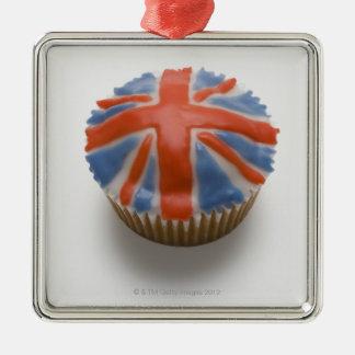 England, Britain, english, union jack, fairy Silver-Colored Square Decoration