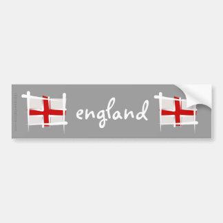 England Brush Flag Car Bumper Sticker