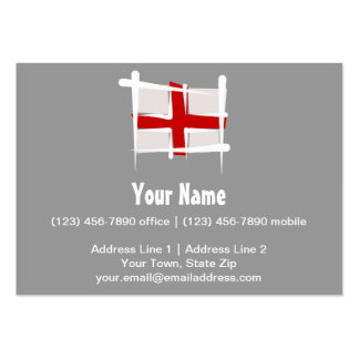 England Brush Flag Pack Of Chubby Business Cards
