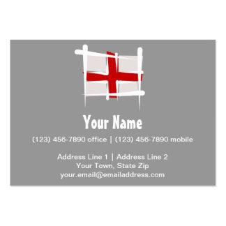 England Brush Flag Business Card Template