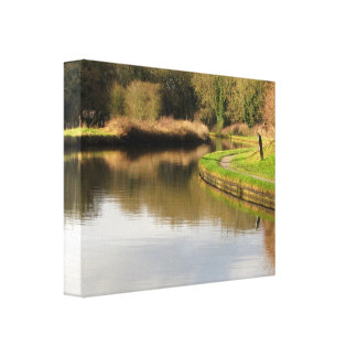 England Canal Water Pond Wrapped Canvas Stretched Canvas Prints