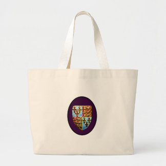 England Canterbury Church Crest Purple bg The MUSE Tote Bag