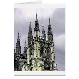 England Canterbury Church Spirals 1 The MUSEUM Zaz Greeting Cards