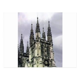 England Canterbury Church Spirals 1 The MUSEUM Zaz Postcard