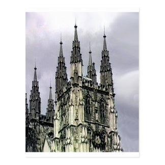 England Canterbury Church Spirals 1 The MUSEUM Zaz Post Card