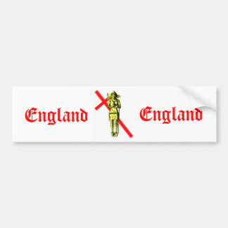 England Car Bumper Sticker