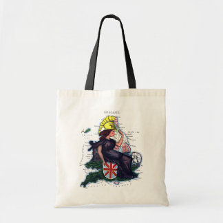 England Caricature Map Budget Tote Bag