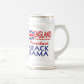 ENGLAND Celebrates US President Obama Souvenirs Beer Steins
