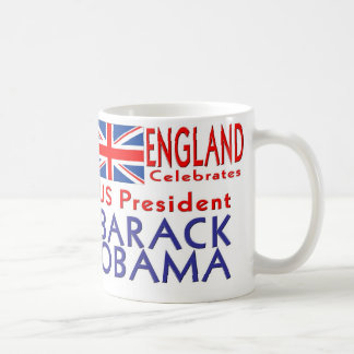 ENGLAND Celebrates US President Obama Souvenirs Mug