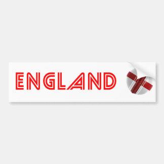 England Cricket Ball Bumper Sticker