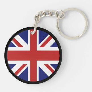 england Double-Sided round acrylic key ring
