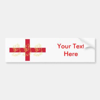 England English Flag Saint George Cross Lions Bumper Sticker