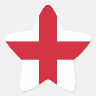 England/English Flag - United Kingdom Star Sticker