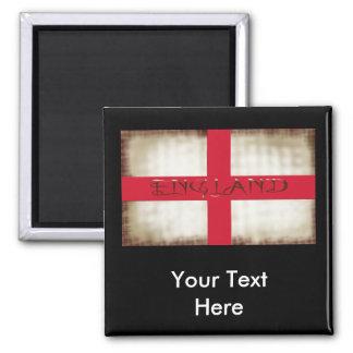 England English Grunge Flag Saint George Cross Magnet