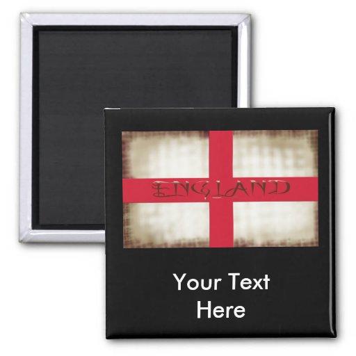 England English Grunge Flag Saint George Cross Refrigerator Magnet