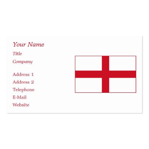 England – English National Flag Business Cards