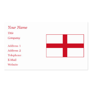 England – English National Flag Pack Of Standard Business Cards
