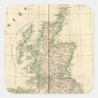England, Europe 7 Square Sticker
