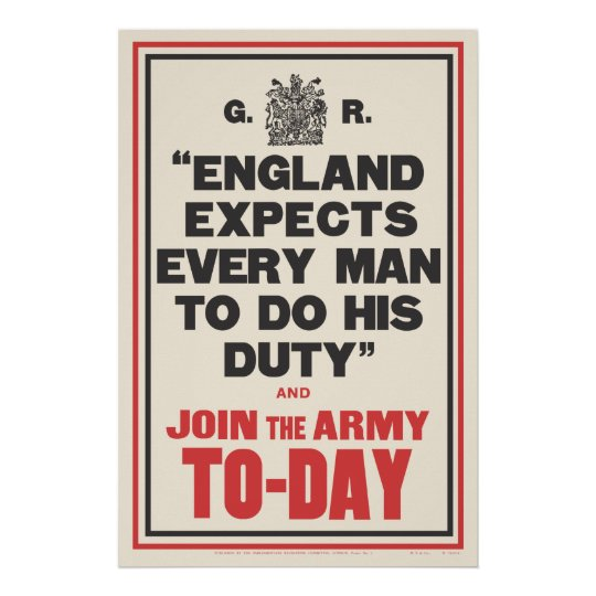 """ENGLAND EXPECTS..."" POSTER"