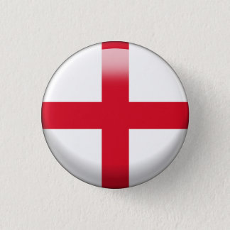 England Flag 3 Cm Round Badge