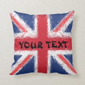 England Flag: ADD TEXT Cushion