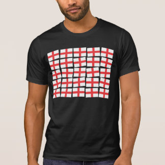 England Flag Adult Black Tee Shirt