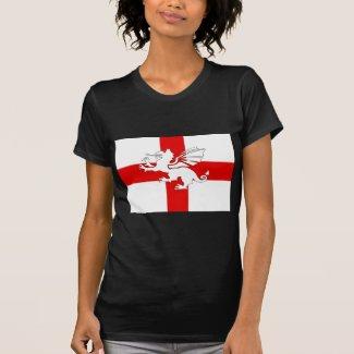 England Flag and Dragon Shirt