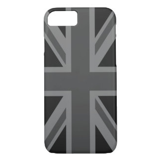England Flag Black Gray iPhone 7 Case