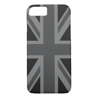 England Flag Black Gray iPhone 8/7 Case
