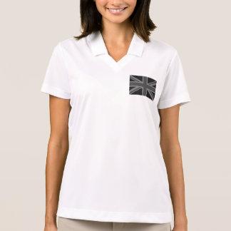 England Flag Black Gray Polo Shirt