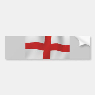 England Flag Bumper Sticker
