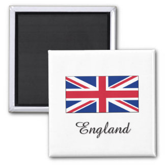 England Flag Design Square Magnet