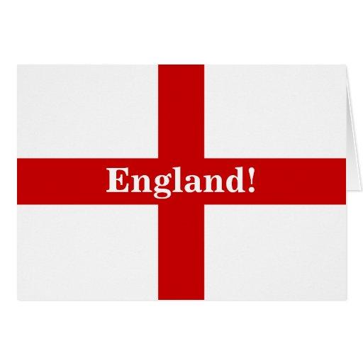 England Flag - Engerland! Engerland! Blank Greeting Cards