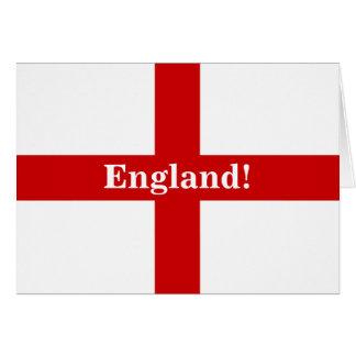 England Flag - Engerland! Engerland! Blank Greeting Card