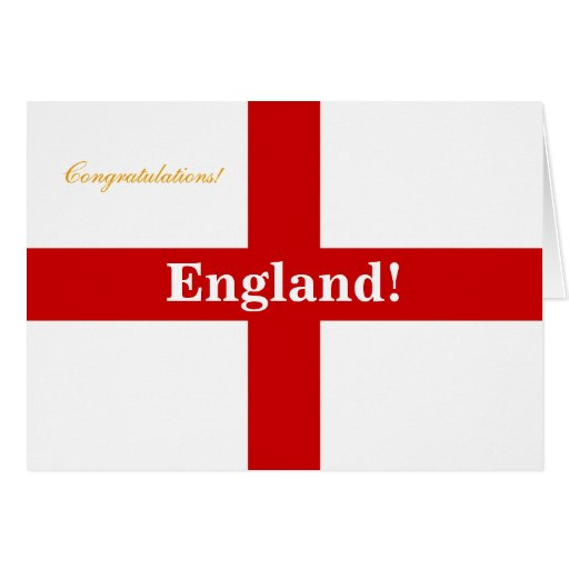 England Flag - Engerland! Engerland! Congrats Card