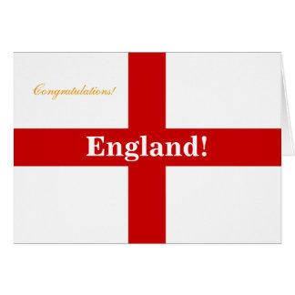 England Flag - Engerland! Engerland! Congrats Greeting Card