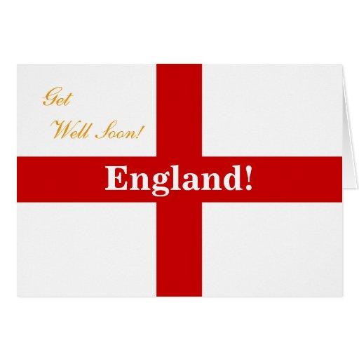 England Flag - Engerland! Engerland! Get Well Soon Cards