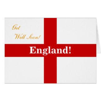 England Flag - Engerland! Engerland! Get Well Soon Greeting Card