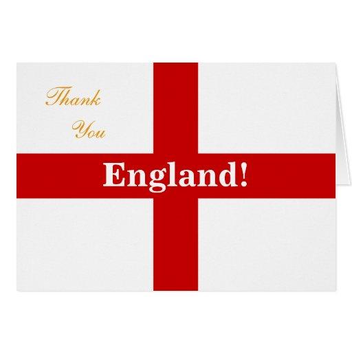 England Flag - Engerland! Engerland! Thank You Greeting Card