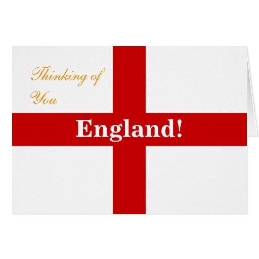 England Flag Engerland! Engerland! Thinking of You Card