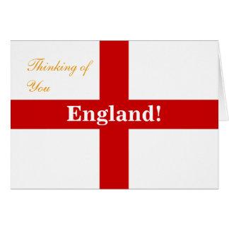 England Flag Engerland! Engerland! Thinking of You Greeting Card