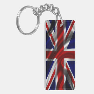 England Flag Fabric Key Ring