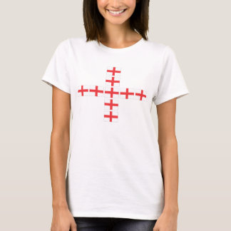 England Flag Fitted Ladies Tee Shirt