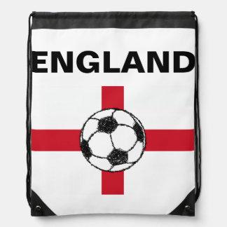 England Flag Football Ball Drawstring Backpacks