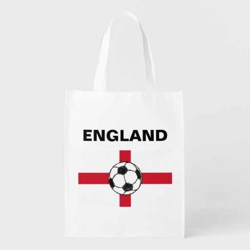England Flag | Football Ball Market Totes