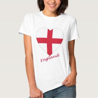 England Flag Heart Shirt