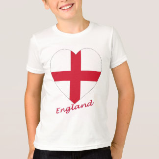 England Flag Heart T-Shirt