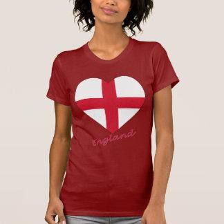 England Flag Heart Tshirt