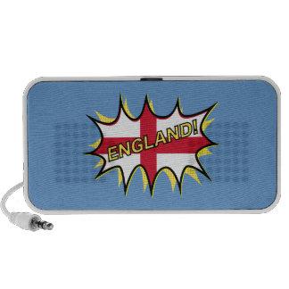 England Flag Kapow Comic Style Star Laptop Speakers